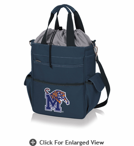 Picnic Time Activo Cooler Tote  University of Memphis Tigers Navy Blue