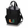 Picnic Time Activo Cooler Tote  University of Miami Hurricanes Black w/ Grey