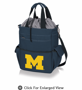 Picnic Time Activo Cooler Tote  University of Michigan Wolverines Navy Blue