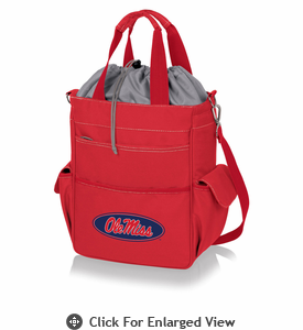 Picnic Time Activo Cooler Tote  University of Mississippi Rebels Red