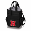 Picnic Time Activo Cooler Tote  University of Nebraska Black w/ Grey