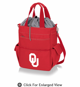 Picnic Time Activo Cooler Tote  University of Oklahoma Sooners Red