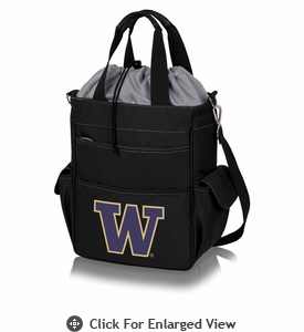 Picnic Time Activo Cooler Tote  University of Washington Black w/ Grey
