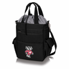 Picnic Time Activo Cooler Tote  University of Wisconsin Badgers Black w/ Grey