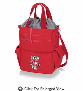 Picnic Time Activo Cooler Tote  University of Wisconsin Badgers Red