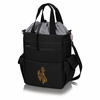 Picnic Time Activo Cooler Tote  University of Wyoming Black w/ Grey