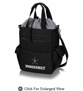Picnic Time Activo Cooler Tote  Vanderbilt University Black w/ Grey