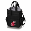 Picnic Time Activo Cooler Tote  Washington State Cougars Black w/ Grey