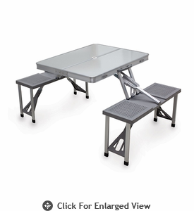 Picnic Time Aluminum Picnic Table - Silver/Gray
