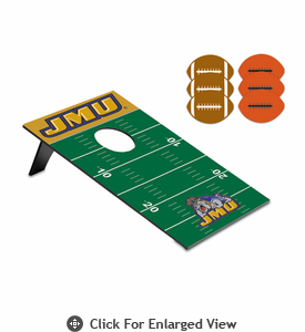 Picnic Time Bean Bag Throw-Football James Madison University Dukes