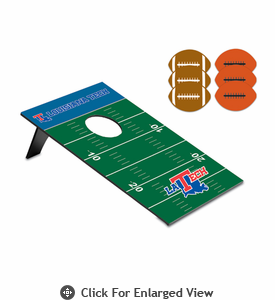Picnic Time Bean Bag Throw-Football Louisiana Tech Bulldogs