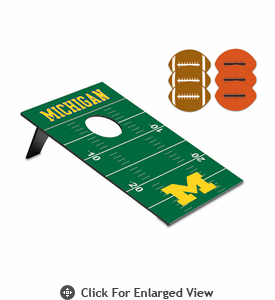 Picnic Time Bean Bag Throw-Football University of Michigan Wolverines