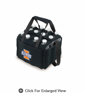 Picnic Time Beverage Buddy 12 Pack - Black University of Illinois Fighting Illini