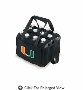 Picnic Time Beverage Buddy 12 Pack - Black University of Miami Hurricanes