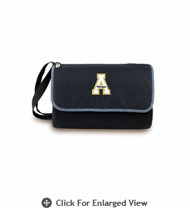 Picnic Time Blanket Tote - Black Appalachian State Mountaineers