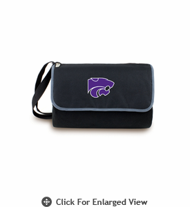 Picnic Time Blanket Tote - Black Kansas State Wildcats