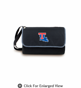 Picnic Time Blanket Tote - Black Louisiana Tech Bulldogs