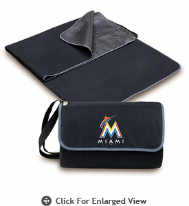 Picnic Time Blanket Tote - Black Miami Marlins
