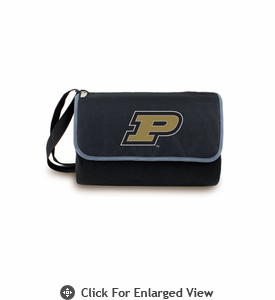 Picnic Time Blanket Tote - Black Purdue University Boilermakers