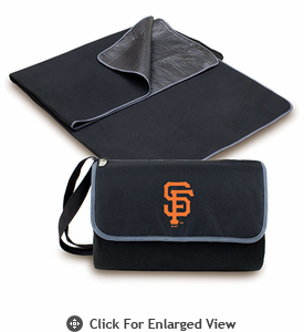 Picnic Time Blanket Tote - Black San Francisco Giants
