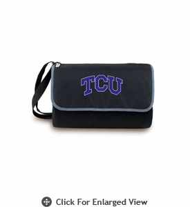 Picnic Time Blanket Tote - Black TCU Horned Frogs