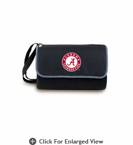 Picnic Time Blanket Tote - Black University of Alabama Crimson Tide