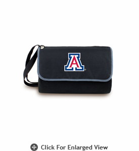 Picnic Time Blanket Tote - Black University of Arizona Wildcats