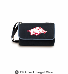 Picnic Time Blanket Tote - Black University of Arkansas Razorbacks