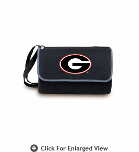 Picnic Time Blanket Tote - Black University of Georgia Bulldogs