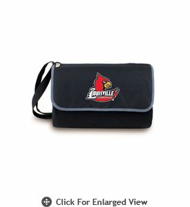 Picnic Time Blanket Tote - Black University of Louisville Cardinals