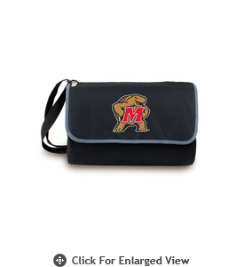 Picnic Time Blanket Tote - Black University of Maryland Terrapins