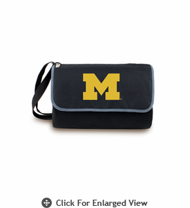 Picnic Time Blanket Tote - Black University of Michigan Wolverines