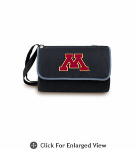 Picnic Time Blanket Tote - Black University of Minnesota Golden Gophers