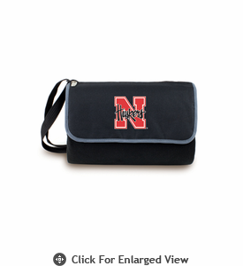 Picnic Time Blanket Tote - Black University of Nebraska Cornhuskers