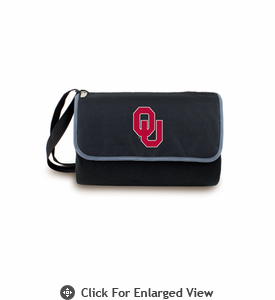 Picnic Time Blanket Tote - Black University of Oklahoma Sooners