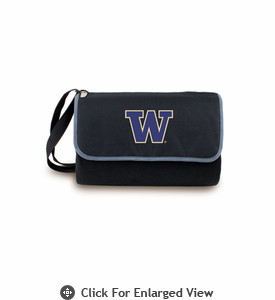 Picnic Time Blanket Tote - Black University of Washington Huskies