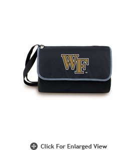 Picnic Time Blanket Tote - Black Wake Forest Demon Deacons