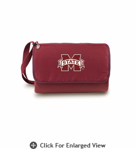 Picnic Time Blanket Tote - Burgundy Mississippi State Bulldogs