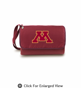 Picnic Time Blanket Tote - Burgundy University of Minnesota Golden Gophers