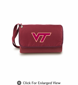 Picnic Time Blanket Tote - Burgundy Virginia Tech Hokies