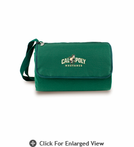 Picnic Time Blanket Tote - Hunter Green Cal Poly Mustangs
