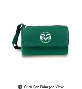 Picnic Time Blanket Tote - Hunter Green Colorado State Rams