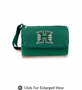 Picnic Time Blanket Tote - Hunter Green University of Hawaii Warriors