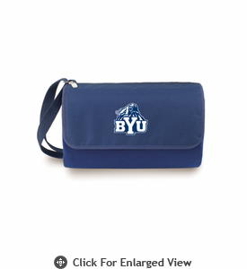 Picnic Time Blanket Tote - Navy Blue BYU Cougars