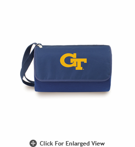 Picnic Time Blanket Tote - Navy Blue Georgia Tech Yellow Jackets