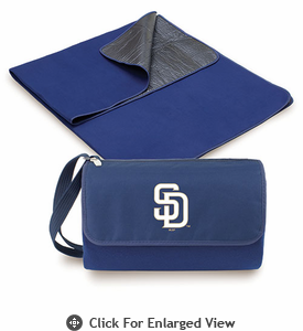 Picnic Time Blanket Tote - Navy Blue San Diego Padres
