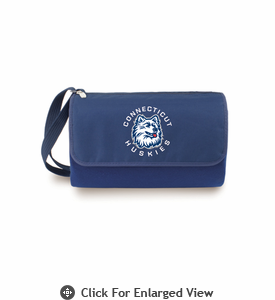 Picnic Time Blanket Tote - Navy Blue University of Connecticut Huskies