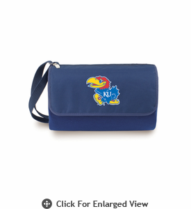 Picnic Time Blanket Tote - Navy Blue University of Kansas Jayhawks