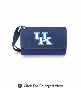 Picnic Time Blanket Tote - Navy Blue University of Kentucky Wildcats