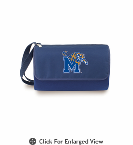 Picnic Time Blanket Tote - Navy Blue University of Memphis Tigers